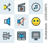 music icons colored line set... | Shutterstock .eps vector #1210133071