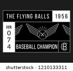 baseball flying balls white on... | Shutterstock .eps vector #1210133311