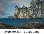The photo was taken on the peninsula of Crimea, the Black Sea, Ukraine. - stock photo
