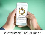 page speed optimization concept ... | Shutterstock . vector #1210140457