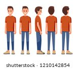 vector illustration of smiling... | Shutterstock .eps vector #1210142854