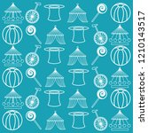 circus ornament seamless... | Shutterstock .eps vector #1210143517