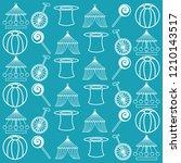circus ornament seamless...   Shutterstock .eps vector #1210143517