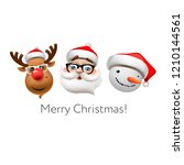 holiday emoticon set icons ... | Shutterstock .eps vector #1210144561