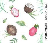 watercolor seamless pattern... | Shutterstock . vector #1210148161