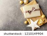 beautiful christmas golden...   Shutterstock . vector #1210149904
