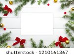 creative christmas layout. fir... | Shutterstock . vector #1210161367