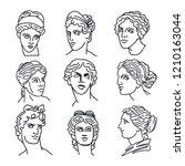 venus  the ancient greek... | Shutterstock .eps vector #1210163044