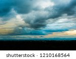 colorful dramatic sky with... | Shutterstock . vector #1210168564