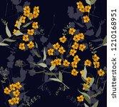 blossom floral seamless pattern.... | Shutterstock .eps vector #1210168951