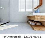 3d rendering  the sink in the... | Shutterstock . vector #1210170781