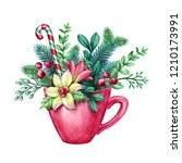 Christmas Red Tea Cup Decorate...