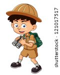 Illustration Of Boy Scout With...