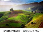 terraced rice field in... | Shutterstock . vector #1210176757