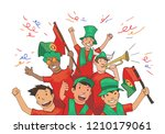 national football team... | Shutterstock . vector #1210179061