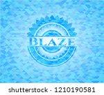 blaze light blue emblem with... | Shutterstock .eps vector #1210190581