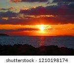sunset over the aegean sea   Shutterstock . vector #1210198174