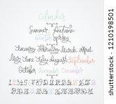 calendar collection of months... | Shutterstock .eps vector #1210198501