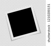 black and white polaroid photo... | Shutterstock .eps vector #1210200151