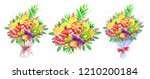 hand drawn watercolor colorful... | Shutterstock . vector #1210200184