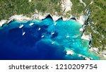 aerial drone bird's eye view... | Shutterstock . vector #1210209754