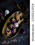 mini eggplants  ginger  garlic... | Shutterstock . vector #1210211914