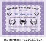violet awesome certificate...   Shutterstock .eps vector #1210217827
