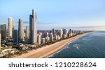gold coast  australia   august... | Shutterstock . vector #1210228624