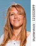 pretty summer fashion girl on... | Shutterstock . vector #121022899