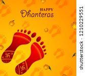 inidan holiday of happy... | Shutterstock .eps vector #1210229551