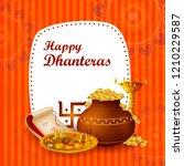 inidan holiday of happy... | Shutterstock .eps vector #1210229587