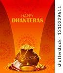 inidan holiday of happy... | Shutterstock .eps vector #1210229611