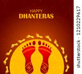 inidan holiday of happy... | Shutterstock .eps vector #1210229617
