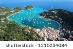 aerial drone bird's eye view... | Shutterstock . vector #1210234084