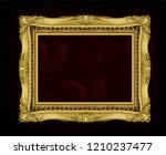 decorative vintage frame and... | Shutterstock .eps vector #1210237477