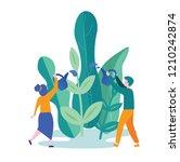 vector illustration. people... | Shutterstock .eps vector #1210242874