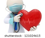 3d rendered doctor examining a... | Shutterstock . vector #121024615