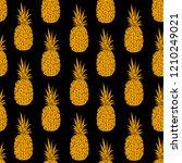 pineapple seamless pattern ... | Shutterstock .eps vector #1210249021
