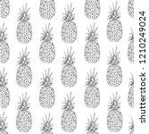 pineapple seamless pattern ... | Shutterstock .eps vector #1210249024