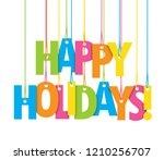 happy holidays colorful... | Shutterstock .eps vector #1210256707