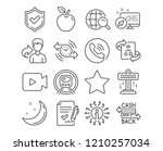 set of internet search ... | Shutterstock .eps vector #1210257034