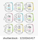 infographic timeline. set of... | Shutterstock .eps vector #1210261417