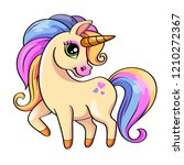 cute little unicorn. vector...   Shutterstock .eps vector #1210272367