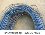 steel rods or bars used to... | Shutterstock . vector #121027531