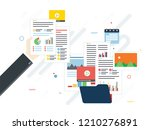 folder with finance documents ... | Shutterstock .eps vector #1210276891