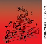 abstract music background with...   Shutterstock .eps vector #12102775
