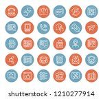 vector set of customer service... | Shutterstock .eps vector #1210277914