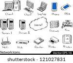 lan network icons vector... | Shutterstock .eps vector #121027831