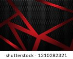 abstract red line triangle on... | Shutterstock .eps vector #1210282321