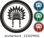 wig  icon  vector | Shutterstock .eps vector #121029001